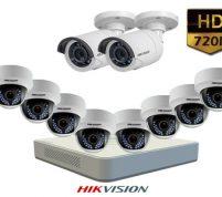 پکیج ۱۰ عدد دوربین مداربسته هایک ویژن HD