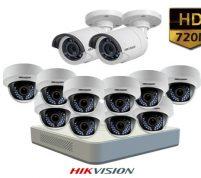 پکیج ۱۲ عدد دوربین مداربسته هایک ویژن HD