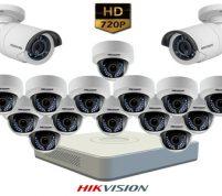 پکیج ۱۶ عدد دوربین مداربسته هایک ویژن HD
