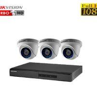 پکیج ۳ عدد دوربین مدار بسته هایک ویژن FULL HD