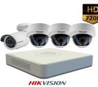 پکیج ۴ عدد دوربین مداربسته هایک ویژن HD
