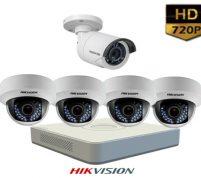 پکیج ۵ عدد دوربین مداربسته هایک ویژن HD