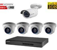 پکیج ۵ عدد دوربین مدار بسته هایک ویژن FULL HD