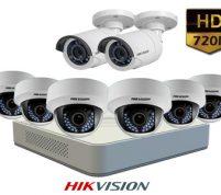 پکیج ۸ عدد دوربین مداربسته هایک ویژن HD