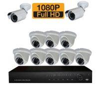پکیج ۱۰ عدد دوربین مدار بسته Full HD